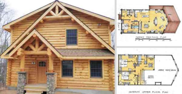 The Cameron is 2223 Square Feet of Log Home Building Mastery CLICK